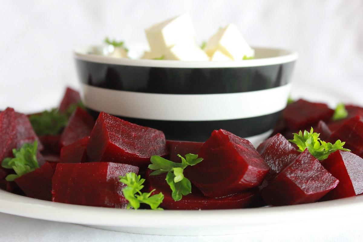 Rødbeter og fetaost