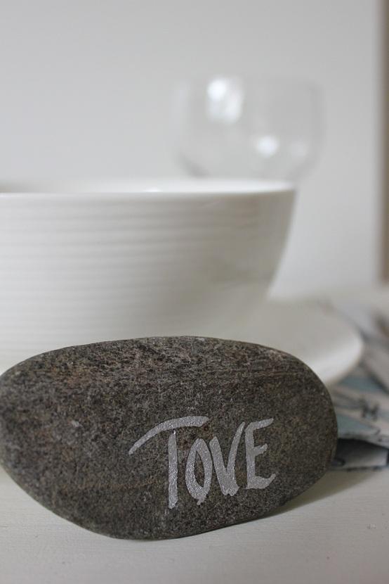 Bordkort - stein