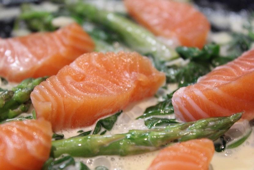 Salma og asparges mm
