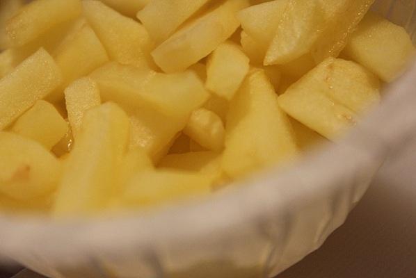 Saftig miniomelett med eple og chorizo