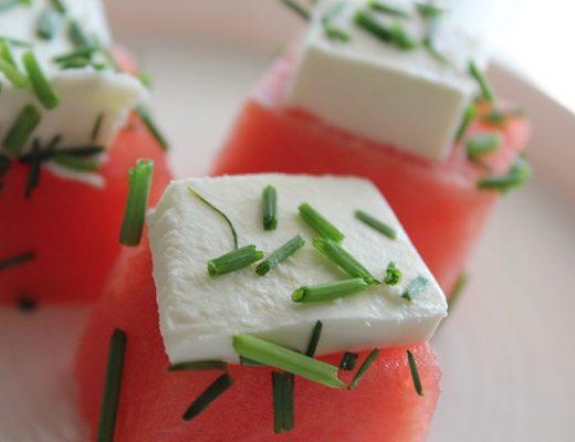 Vannmelon med fetaost