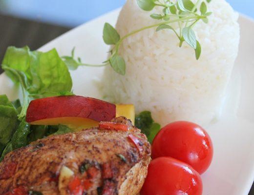 Marinert kyllingfilet med ris og enkel salat 3
