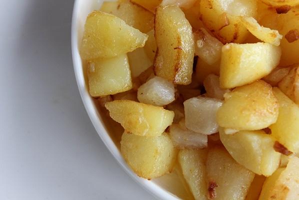 Smørstekt potet og nepe