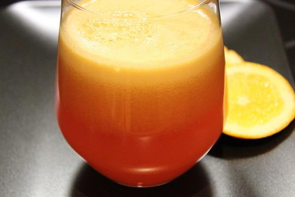 Appelsinjuice med ingefar