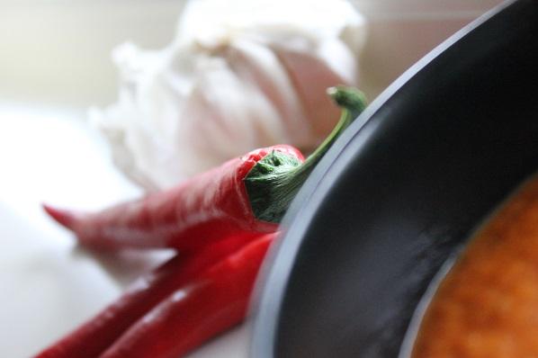 Chili- og tomatsaus til pulled pork taco