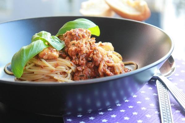 Smakfull spaghetti med soltorket tomatpesto 1