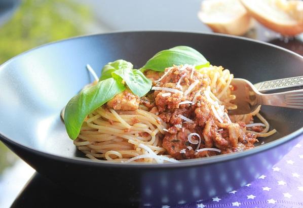 Smakfull pasta med tomatpesto