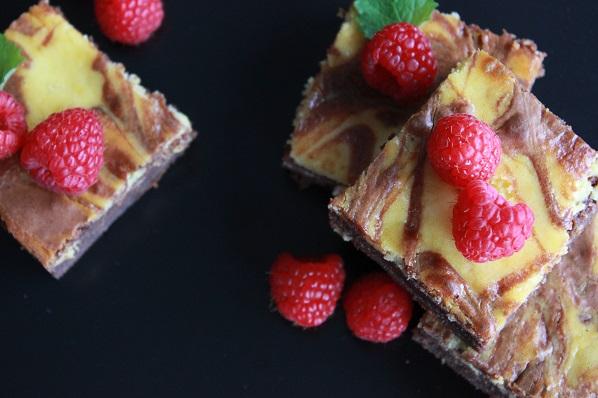 Brownie og ostekake