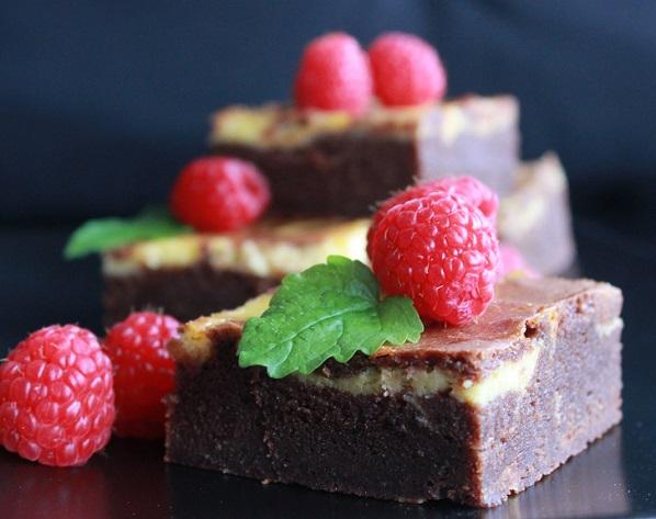 Brownie og ostekake2