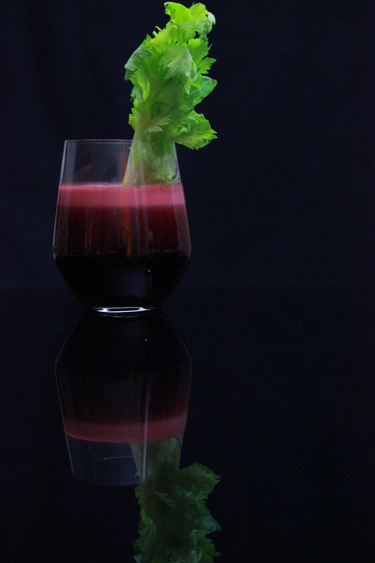 Rødbete- og druejuice