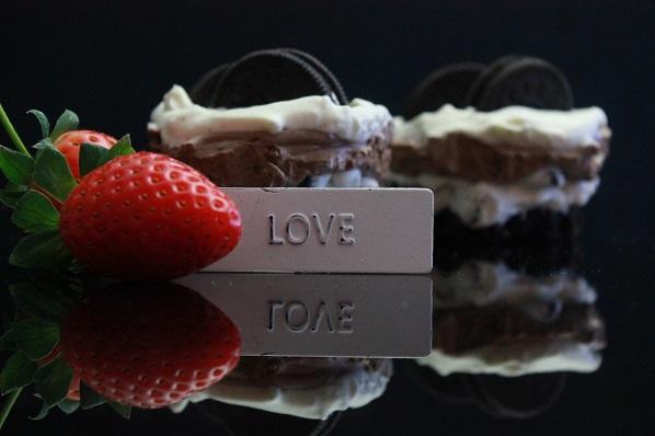 Porsjonskake Oreo - Valentine - Alle hjerters dag