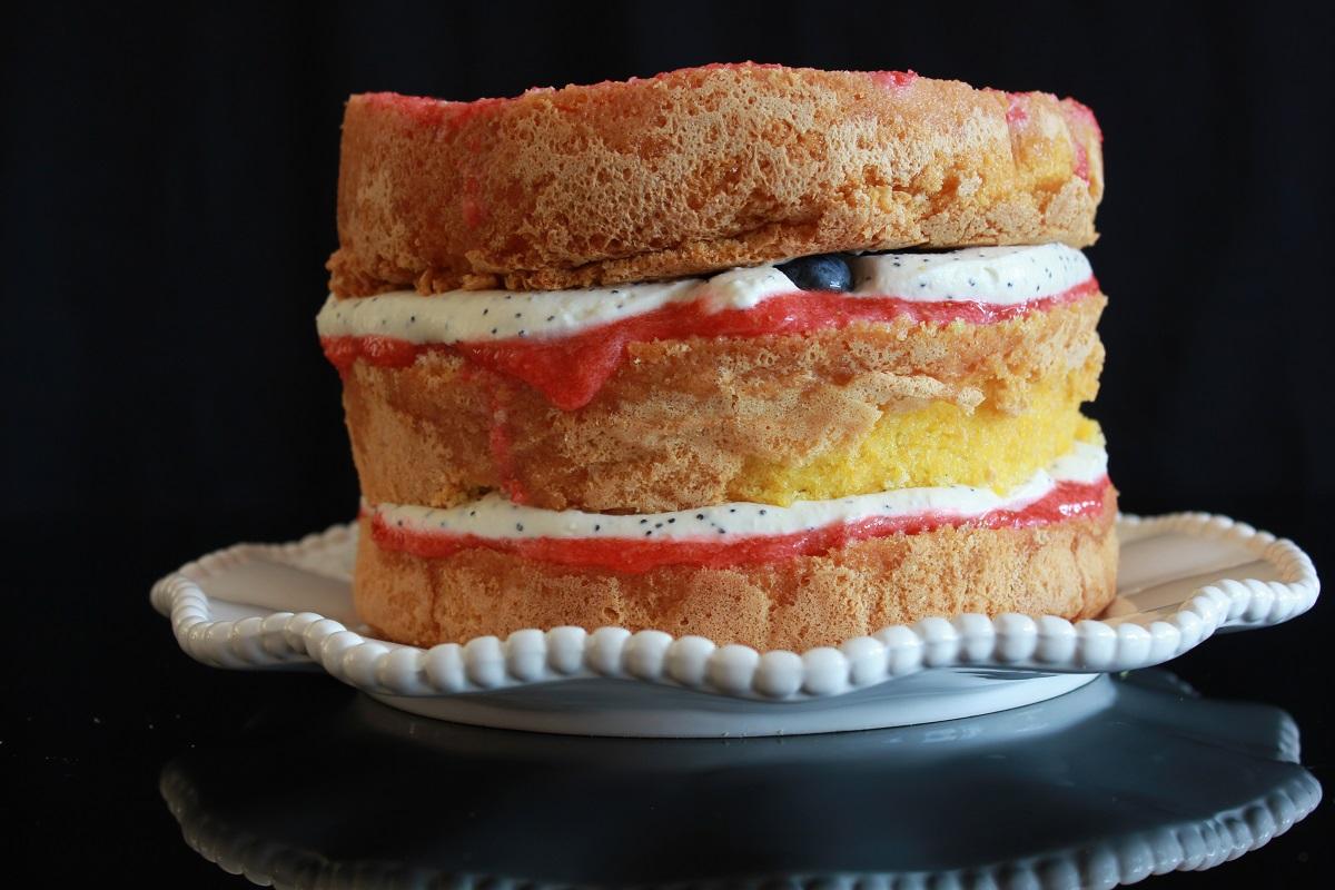 Naken kake - naked cake