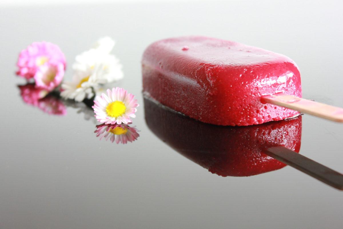 SmoothieIs - Rødbete, appelsin og druer på pinne
