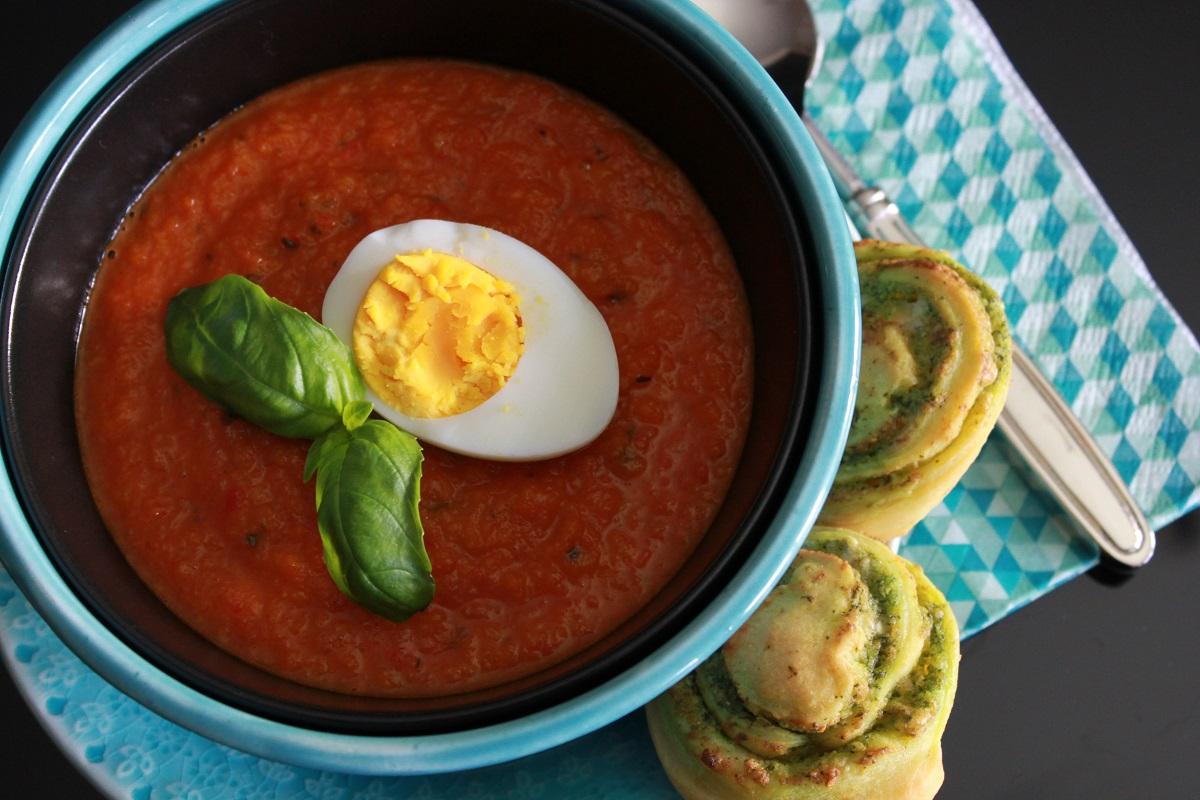 Tomat- og gulrotsuppe