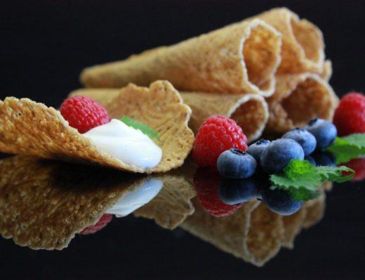 Glutenfrie krumkaker med mandler