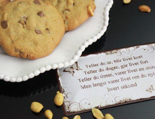 Peanøtt- og sjokoladecookies