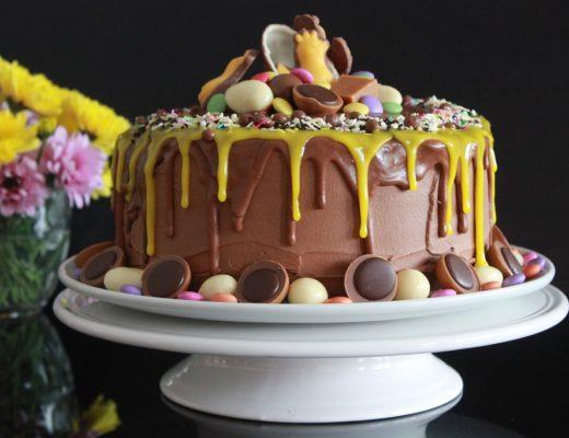 Saftig sjokoladekake - dripp - dryppende sjokolade