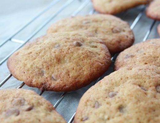 Cookies med sjokolade og banan