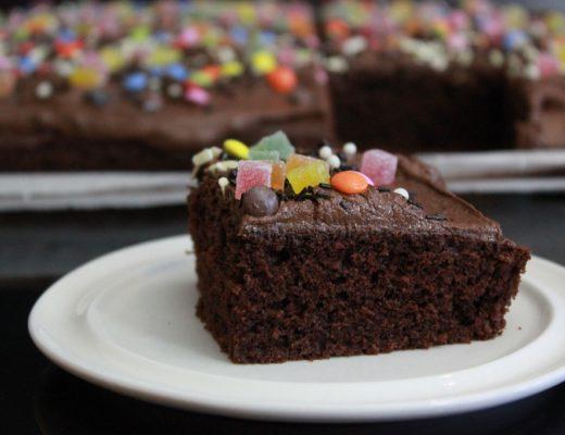 Sjokoladekake - langpanne - vinneren pa kakebordet