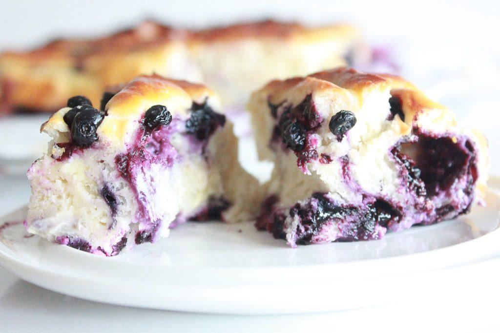 Stablebakst med blåbær og vanilje