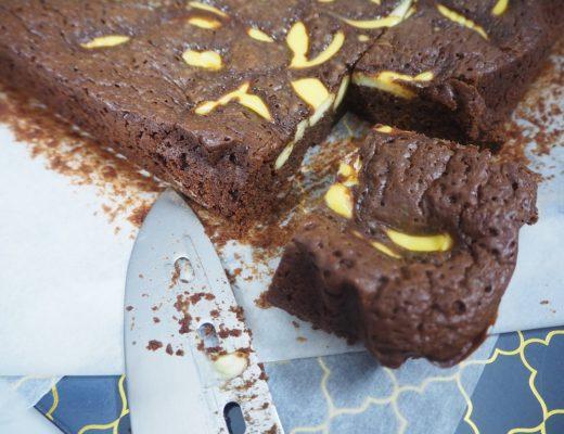 Brownie med vaniljekrem