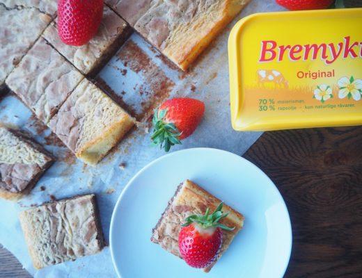 Brownie og bananblondie