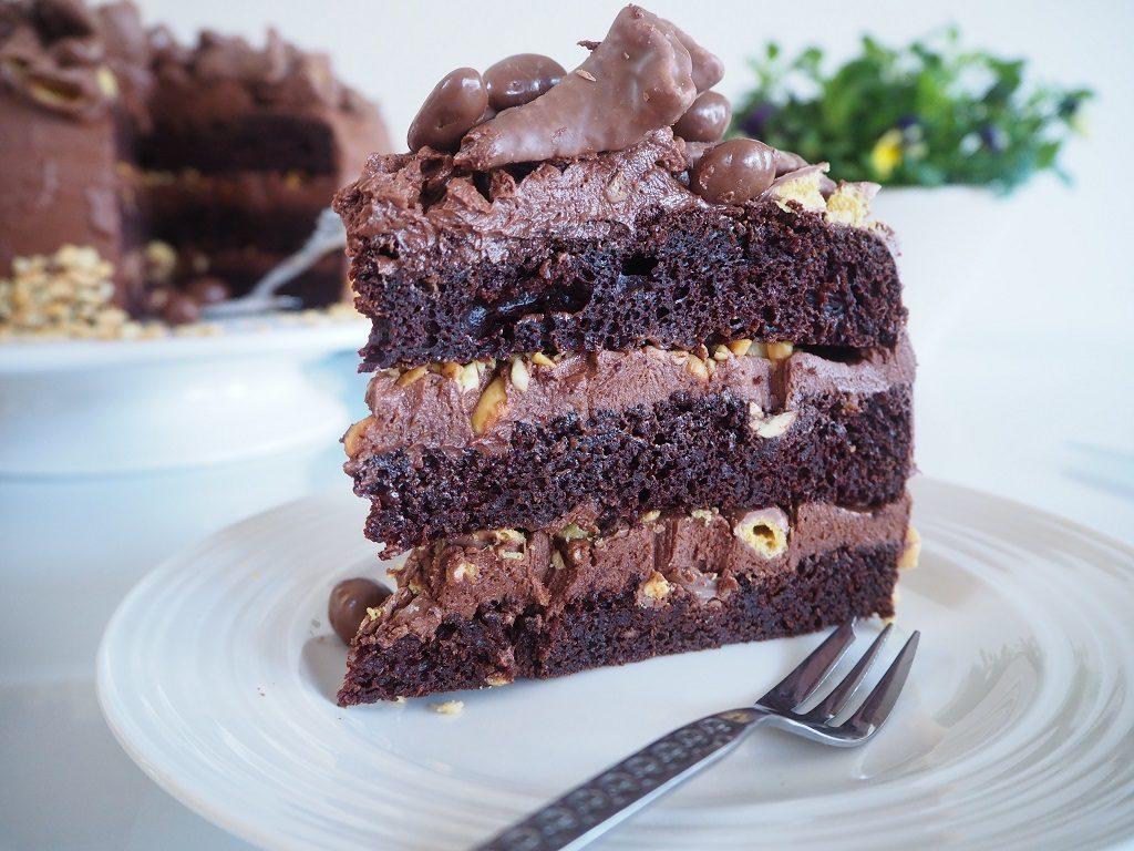 Smashing festkake - sjokoladekake med smash