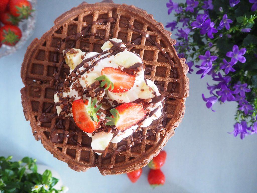 Sjokoladekakevaffel - sjokoladekake - vaffelkake - vaffel
