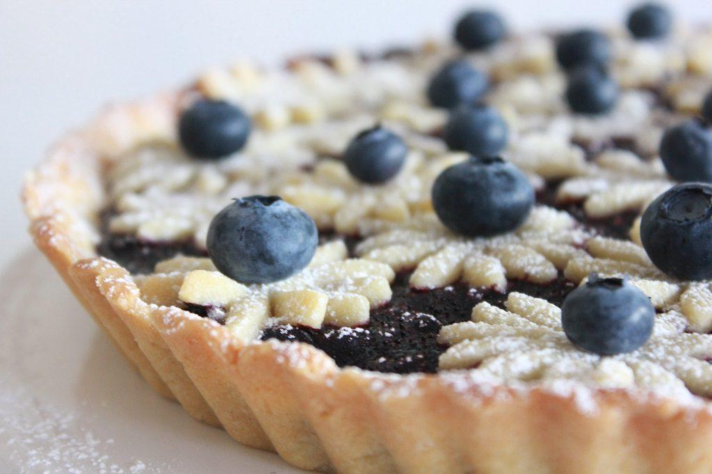 Blåbær- og vaniljepai