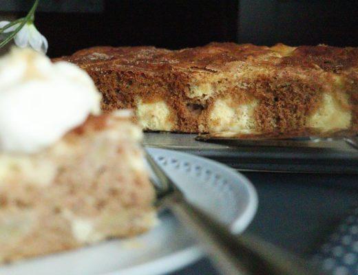 Eplekake og ostekake - epleostekake