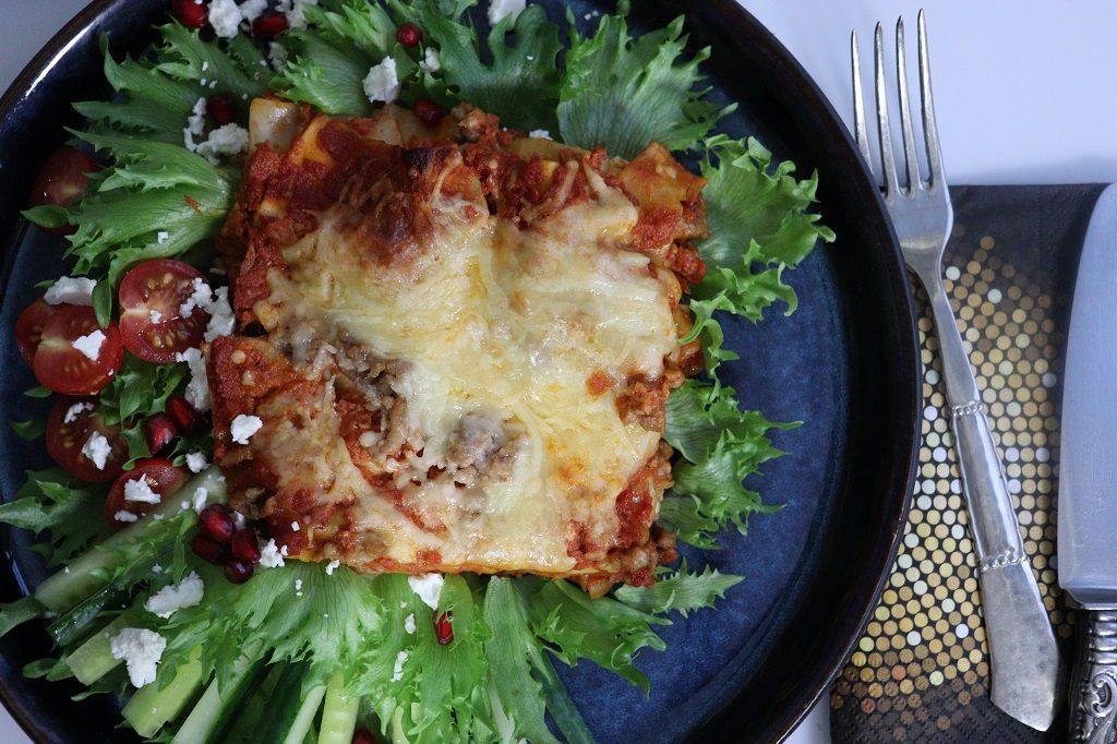 Hjemmelaget lasagne - enkel lasagne - rask lasagne