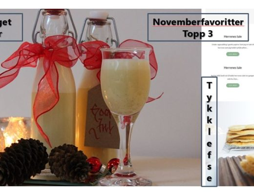 Novemberfavoritter topp 3 besøkte innlegg i november
