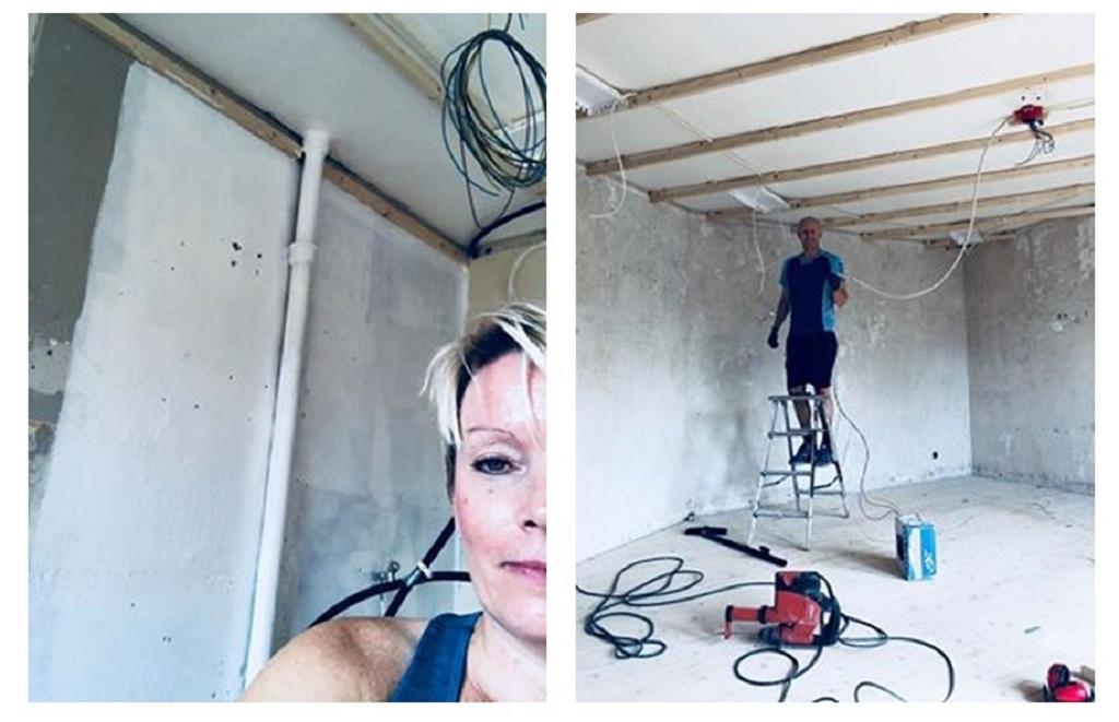 Oppussing av leilighet - Maleren og kabletrekkeren - helgearbeid