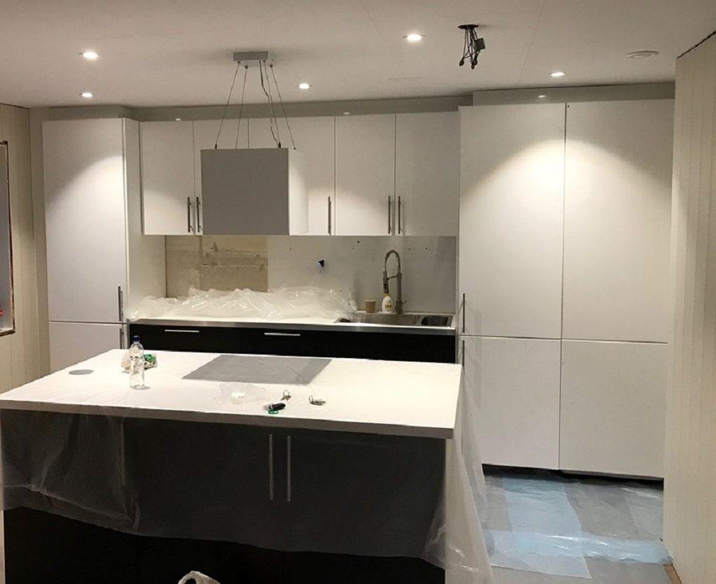 Oppussing av leilighet - Nesten ferdig kjøkken