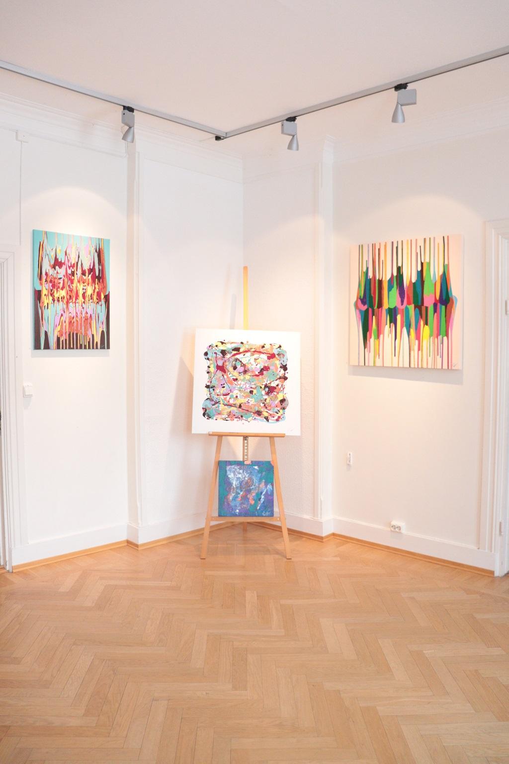 Kunstutstilling - Tove Holter - Begge veier - Fønvind - Salig kombinasjon - Harmoni - Det lyse hjørnet