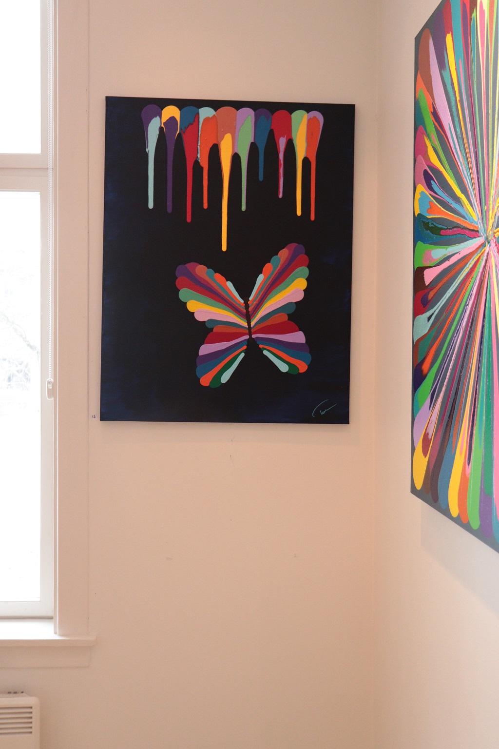 Kunstutstilling - Tove Holter - Sommerfugl