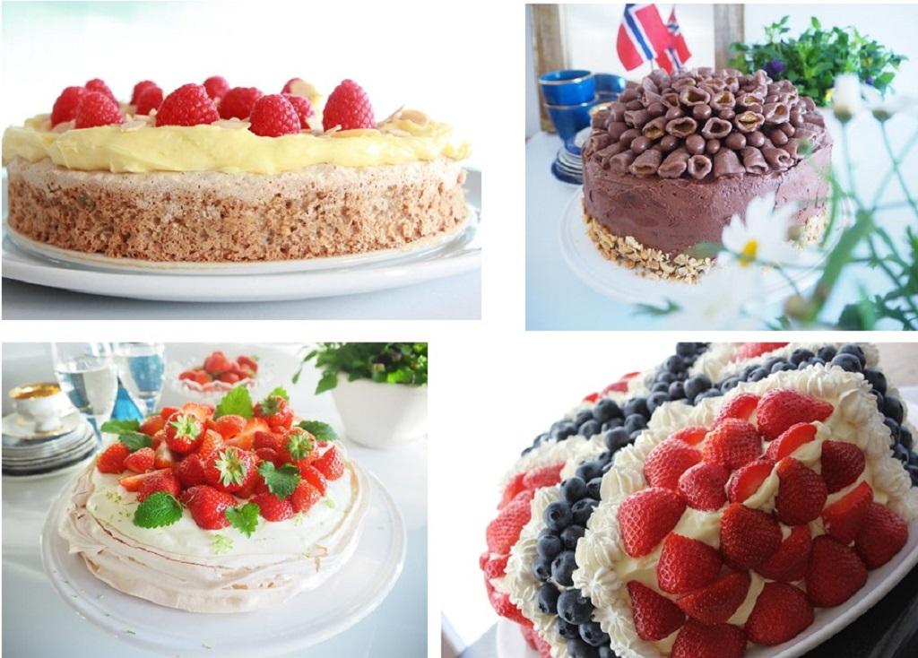 Kom mai med flotte kakebord - Idefull - Toves Matglede - Tove Holter - Sjokoladekake - pavlova - festkake - suksessterte