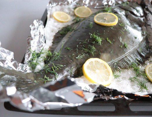 Ovnsbakt kveite - saltbakt fisk - Idefull - Toves matglede - Tove Holter