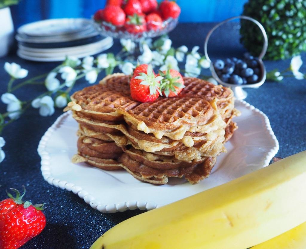 Bananvafler - vaffel med banan - Oppskrift Idefull - Inspirert av Tove Holter