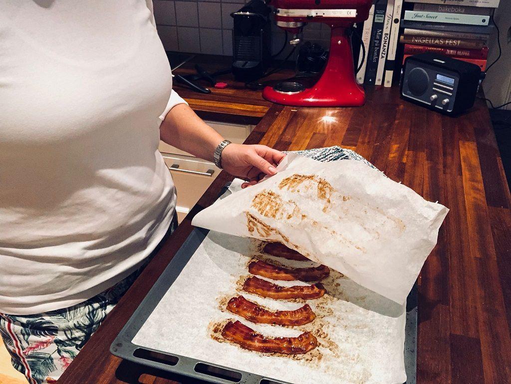 Frokostvafler-in-the-making-bacon - oppskrift Idefull - Inspirert av Tove Holter