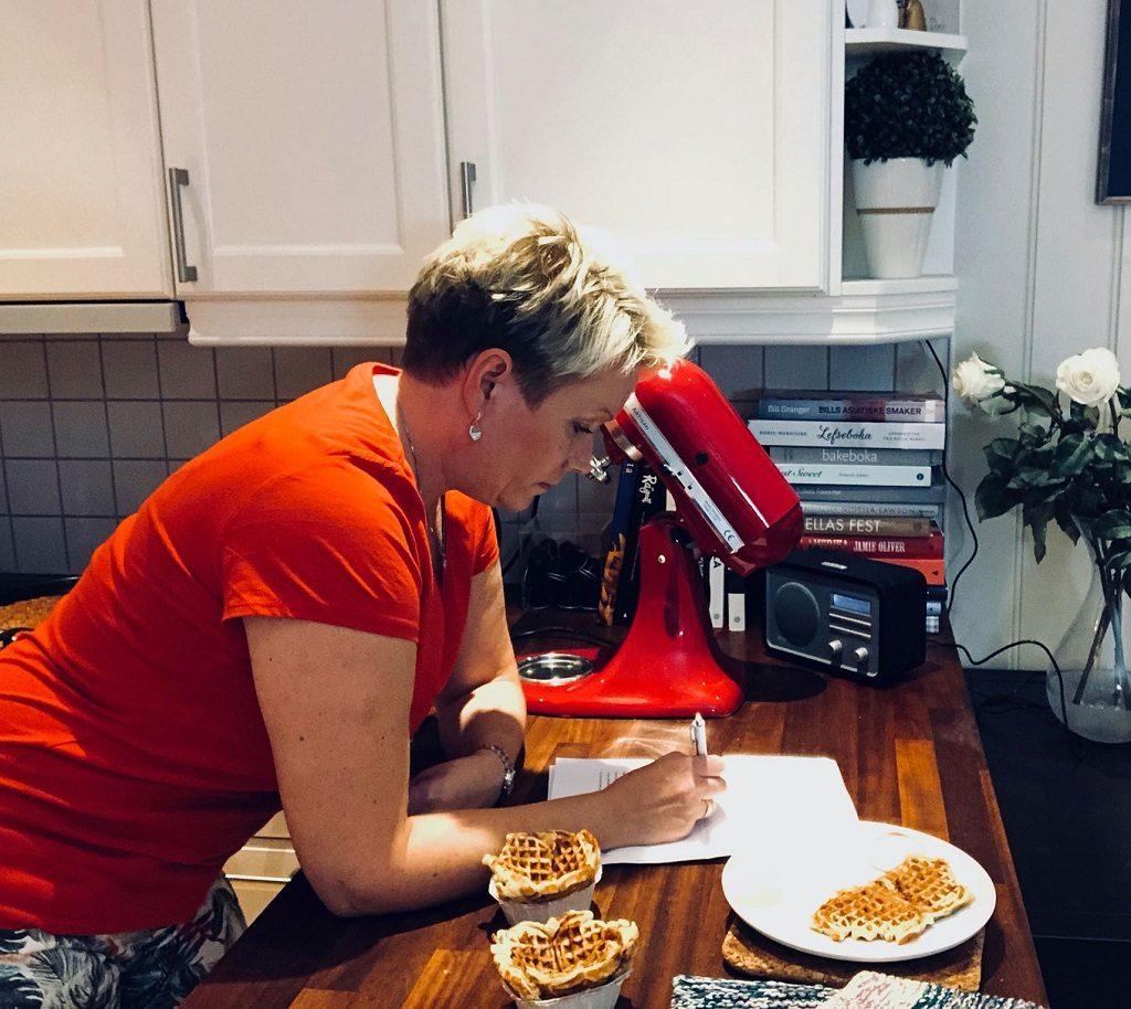 Frokostvafler-in-the-making - oppskrift Idefull - Inspirert av Tove Holter