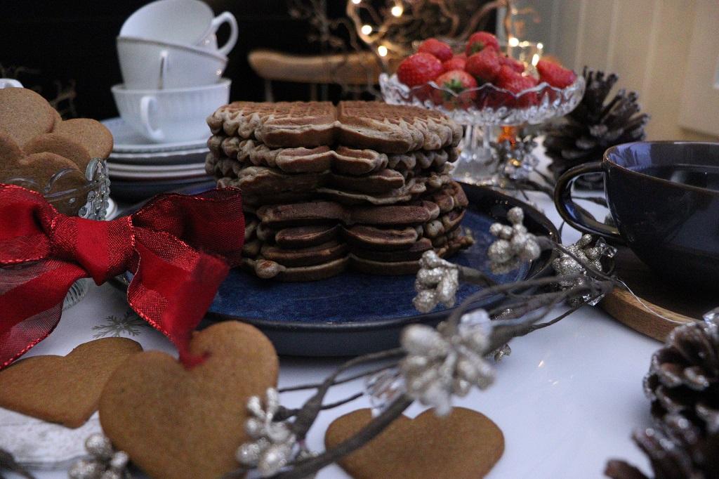 Gløggvafler - vafler med gløgg - julevaffel - Oppskrift Idefull - Inspirert av Tove Holter