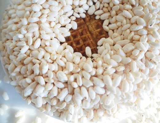 Poffa vafler - vafler med puffet ris - vaffeloppskrift Idefull - Inspirert av Tove Holter