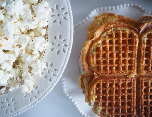 Popcornvaffel- vaffeloppskrift Idefull - Inspirert av Tove Holter