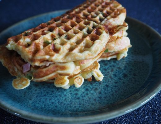 Vaffel med ost og skinke - lunsjvaffel - Oppskrift Idefull - Inspirert av Tove Holter
