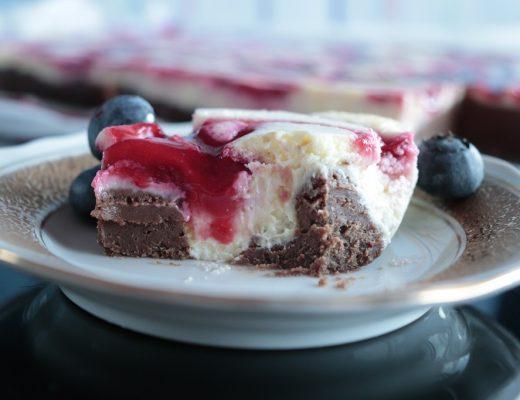 Sjokoladekake Tress - Konfektkake ostekake og bringebaer - Idefull - Inspirert av Tove Holter